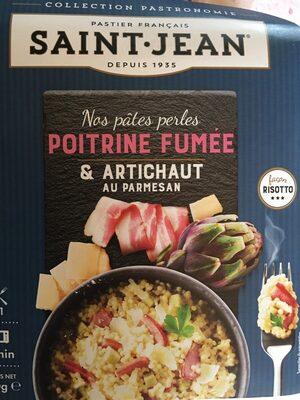 Nos pâtes perles Poitrine Fumée et Artichaut au Parmesan - Product