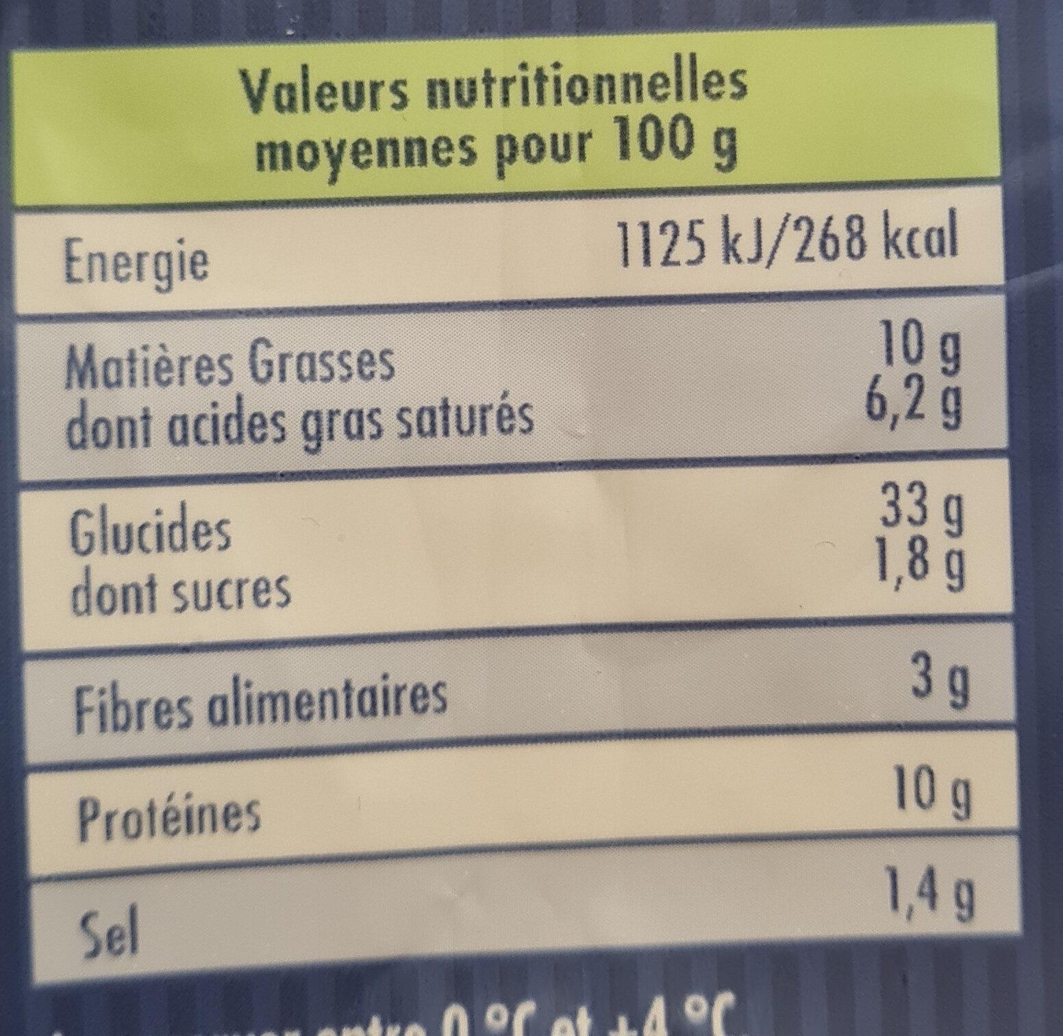 nos véritables pâtes fraîches au fromage Boursin - Informations nutritionnelles - fr
