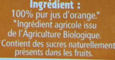 100% Jus D'orange - Ingrediënten - fr