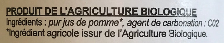 Cidre brut - Ingredienti - fr
