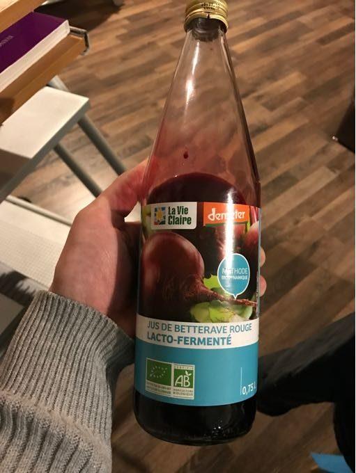 Jus De Bettrave Rouge Lacto-fermenté - Produit - fr
