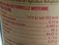 Sirop de framboise et mûre - Nutrition facts
