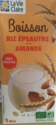 Boisson riz épautre amande - Produit - fr