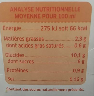 Boisson riz épautre amande - Informations nutritionnelles - fr