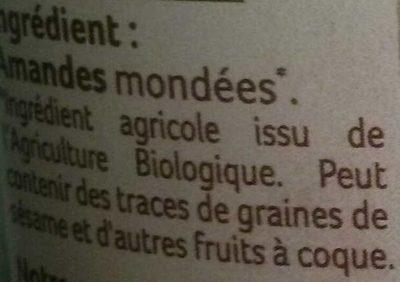 Purée d'Amandes - Ingrédients - fr