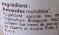 Purée d'amandes - Ingredienti - fr
