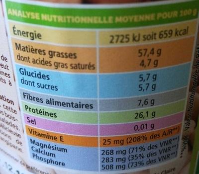 Purée d'amandes - Valori nutrizionali - fr