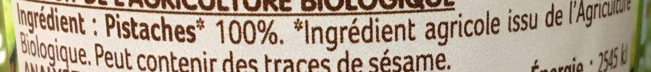 Purée de pistaches crue - Ingrediënten - fr