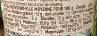 Purée de pistaches crue - Voedingswaarden - fr