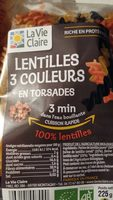 Lentilles 3 couleur en torsades - Product - fr