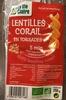 Lentilles corail en torsades - Produit