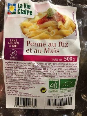 Penne au riz et au mais - Product - fr
