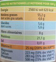 Purée d'amandes complètes - Informations nutritionnelles - fr