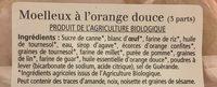 Moelleux a l'orange douce - Ingredients