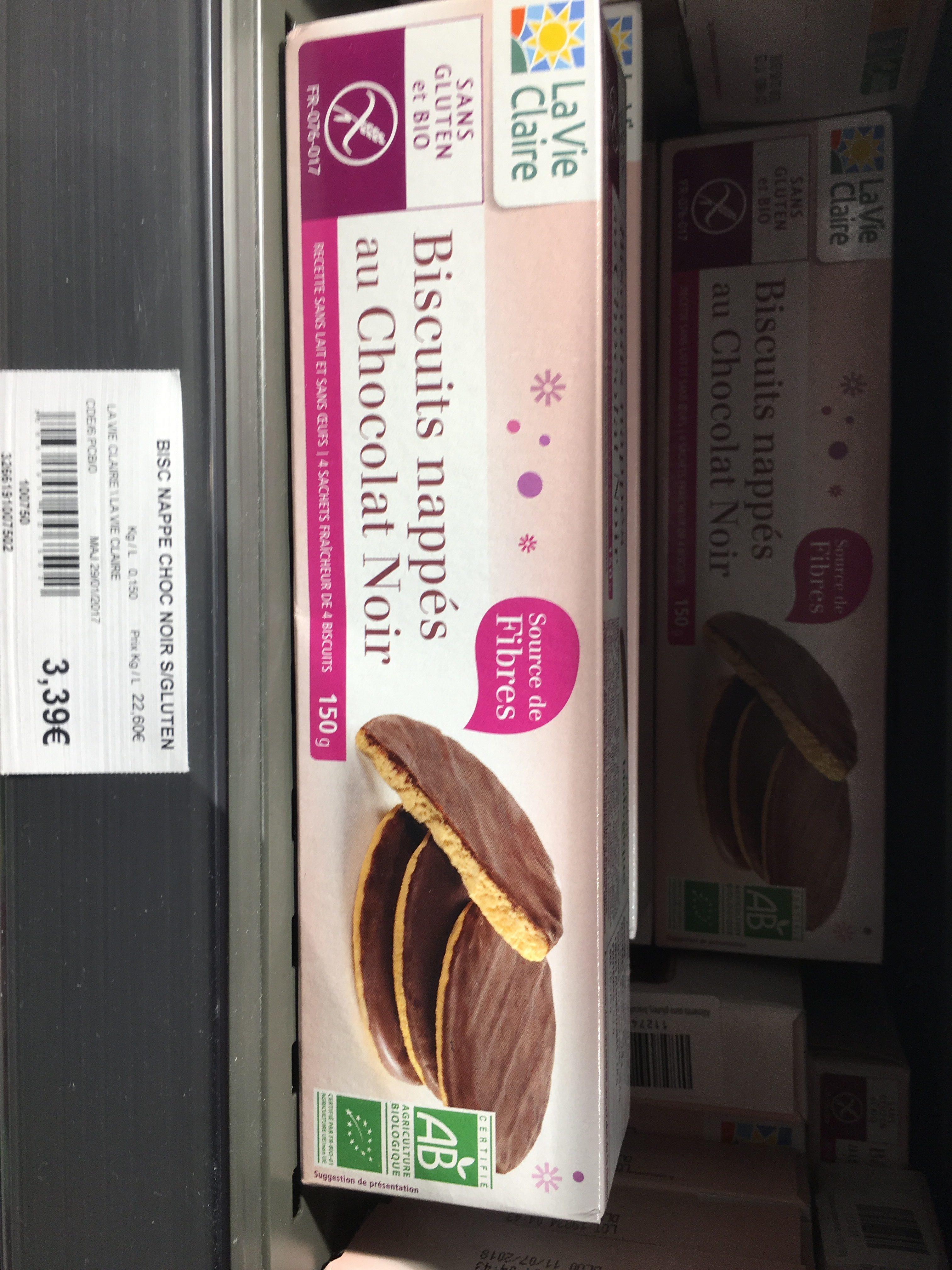 Biscuits Nappés Au Chocolat Noir 150g Sans Gluten - Ingredients