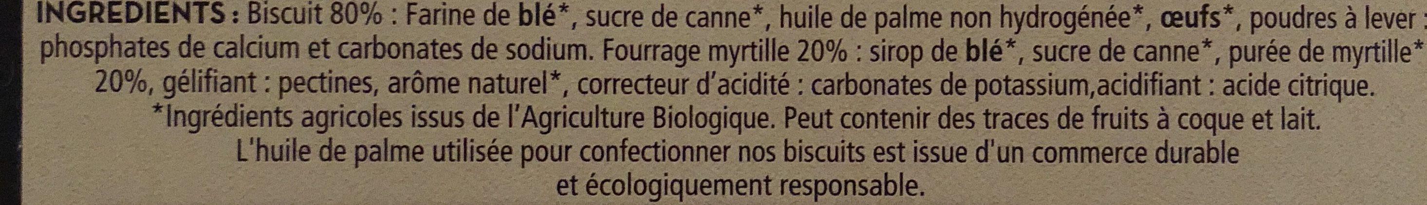 Lunettes à la Myrtille - Ingrédients - fr