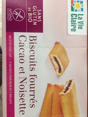 Biscuits fourrés cacao et noisette - Product