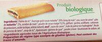 Biscuits fourrés cacao et noisette - Ingredients