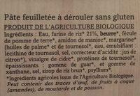 Pâte feuilletée - Ingrediënten - fr