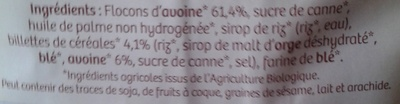Muesli croustillant Nature - Ingredients - fr