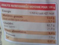 Muesli croustillant Nature - Nutrition facts - fr