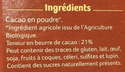 Pur Cacao en Poudre - Ingrédients