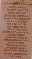 Brownie chocolat et noix - Ingrédients - fr