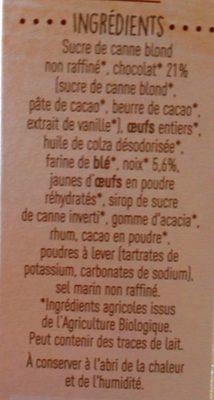 Brownie chocolat et noix - Ingredients