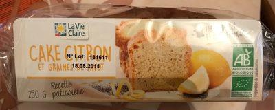 Cake Citron et graines de Pavot - Product