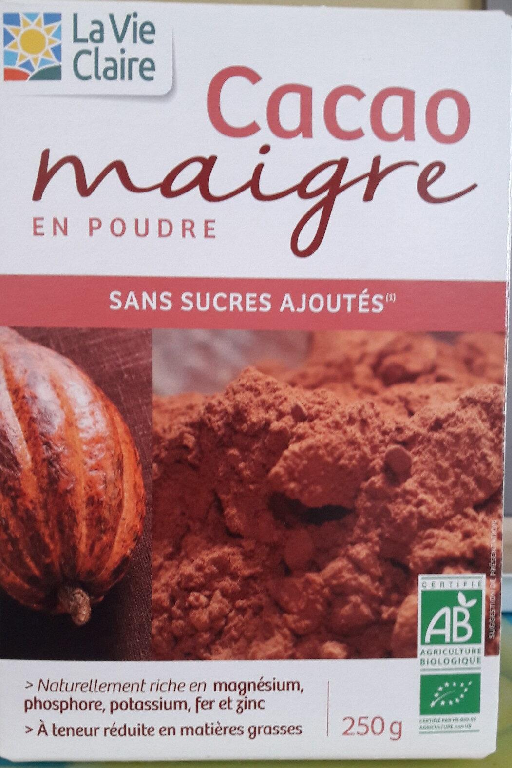 Cacao Maigre En Poudre - Produit