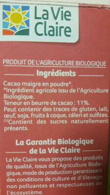 Cacao Maigre En Poudre - Informations nutritionnelles