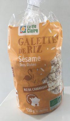 Galettes De Riz Au Sésame, 130 Grammes, Marque La Vie Claire - Product - fr