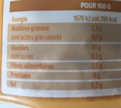 Galettes De Riz Au Sésame, 130 Grammes, Marque La Vie Claire - Voedingswaarden - fr