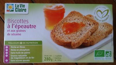 Biscottes à l'épeautre - Product - fr