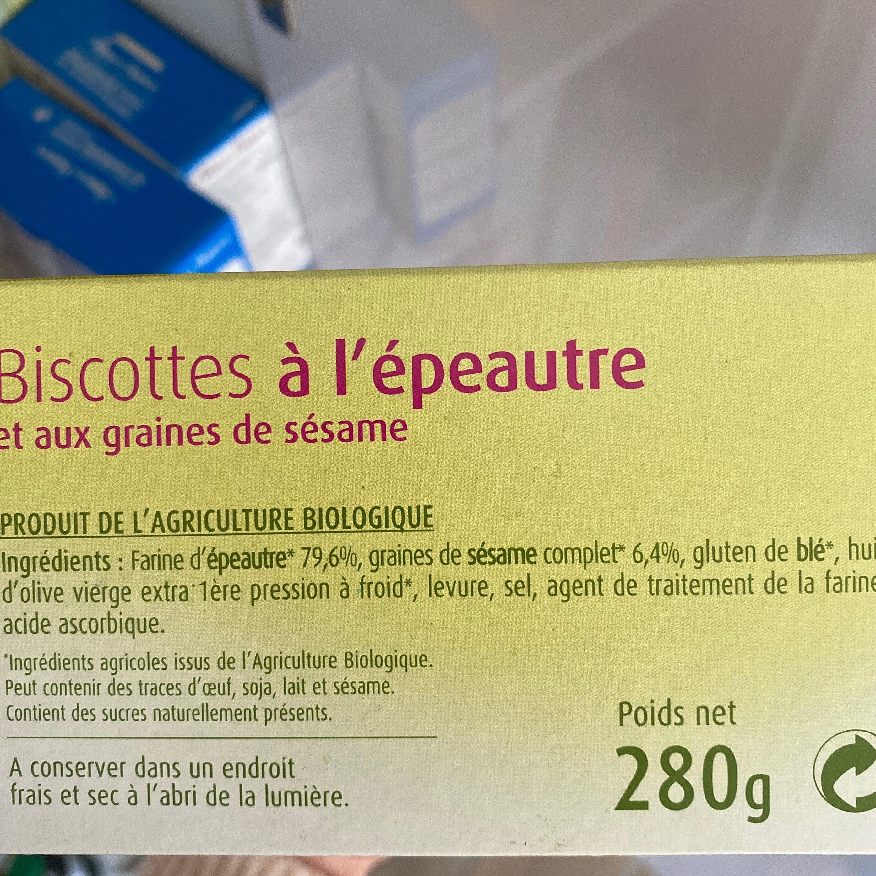 Biscottes à l'épeautre - Ingredients - fr
