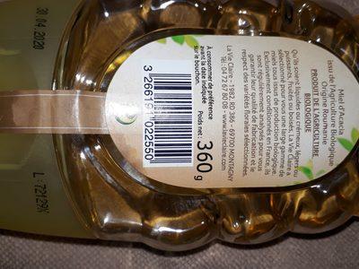 Miel d'Acacia - Valori nutrizionali - fr