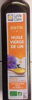 Huile Vierge De Lin - Produit - fr
