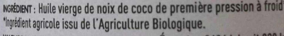 Huile vierge de noix de coco - Ingrediënten