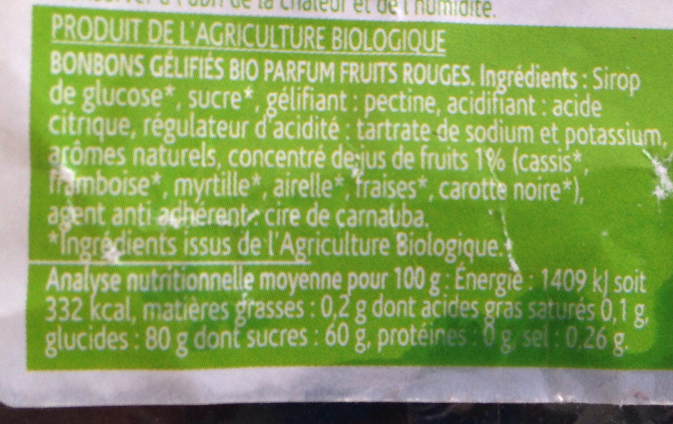 Trésor de fruits rouges - Ingredients - fr