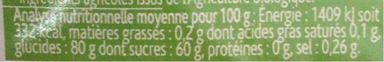 Trésor de fruits rouges - Nutrition facts - fr