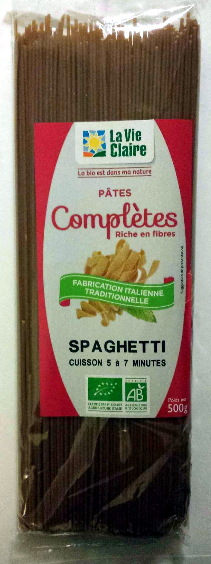 Pâtes complètes, Spaghetti Bio - Product - fr