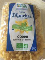 Pâtes blanches Codini - Product - fr