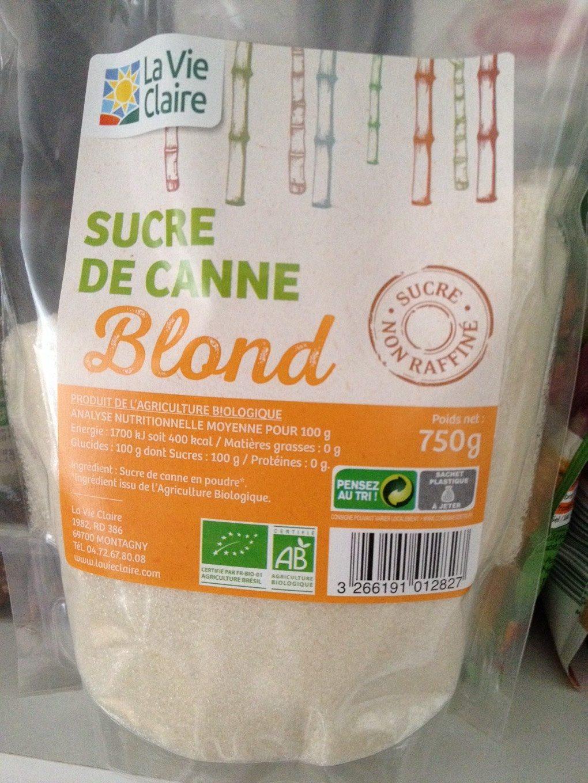 Sucre de canne blond - Product