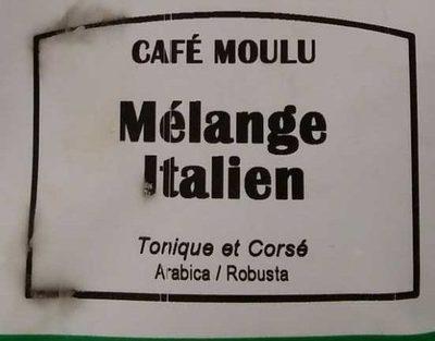 Café Moulu Mélange Italien - Ingredients - fr