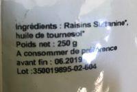 Raisin Sultanine - Ingrédients - fr