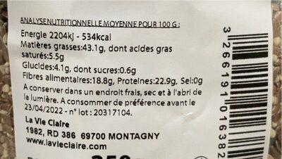 Graines le choix du boulanger - Valori nutrizionali - fr