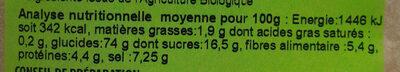 Potage aux légumes variés - Informations nutritionnelles - fr