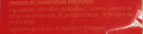 Rooïbos 5 Agrumes - Ingredients