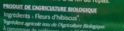 Hibiscus fleurs séchées - Ingredients