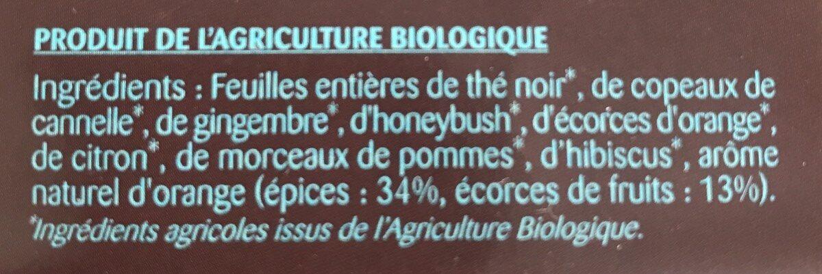 Thé noir agrumes et épices - Ingredients